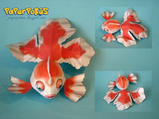 Pokemon Goldeen Papercraft
