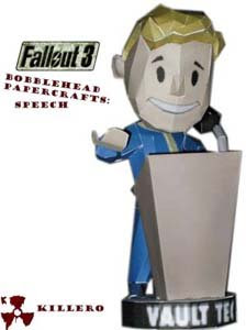 Fallout 3 Speech Bobblehead Papercraft