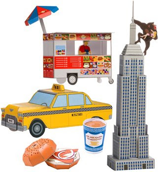 New York City Icons Papercraft