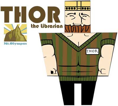 Thor Papercraft x Hermes x Anubis Paper Toy