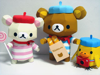 Rilakkuma Papercraft French Series