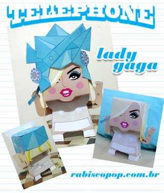 Lady Gaga Papercraft