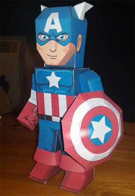 Captain America Papercraft 5