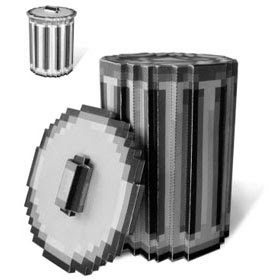 Retro Mac Trash Can Papercraft
