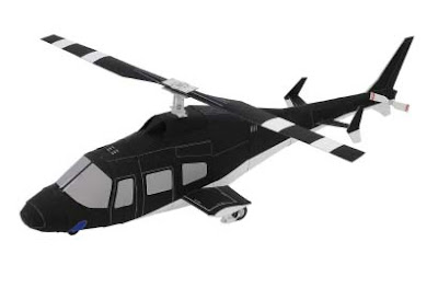 Airwolf Helicopter Papercraft