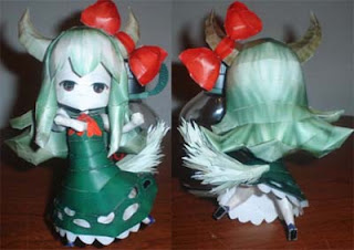 Touhou Project Keine Kamishirasawa Papercraft