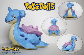 Pokemon Doll Lapras Papercraft
