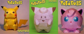 Pokemon Doll Papercrafts Team 2