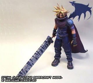 Kingdom Hearts Cloud Strife Papercraft