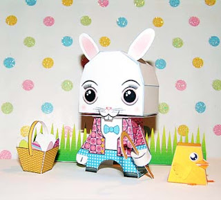 Easter Bunny Papercraft 2