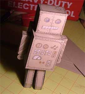 Scrap Robot Papercraft