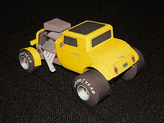 32 Ford Papercraft - Side