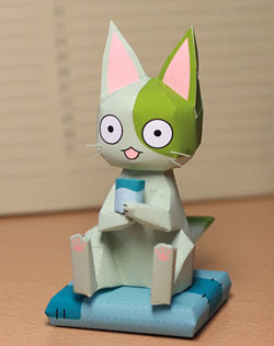 Wasabi Cat Papercraft