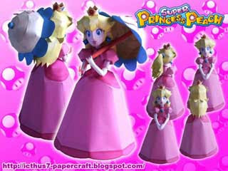 Super Princess Peach Papercraft