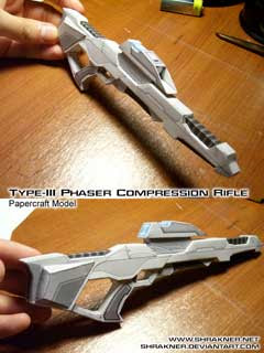 Phaser Rifle Papercraft