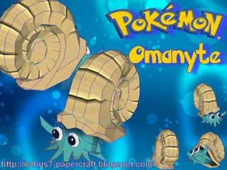 Pokemn Omanyte Papercraft