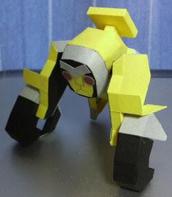 Saru Origami Mecha Papercraft