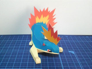 Pokemon Quilava Papercraft