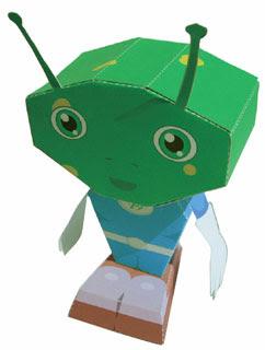 Alien Mascot Papercraft