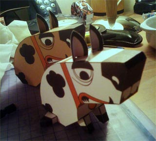 Funky Doggy Papercraft Toy
