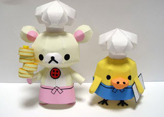 Relax Bear Papercraft - Chef