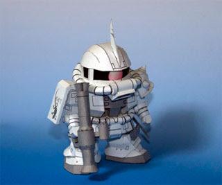 M6-06J Zaku White Ogre Gundam Papercraft