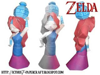 Water Girl Statue Papercraft