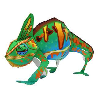 Chameleon Papercraft