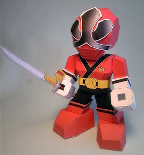 Red Shinken Papercraft