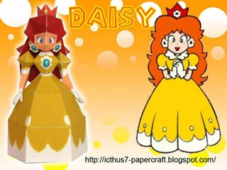 Princess Daisy Papercraft