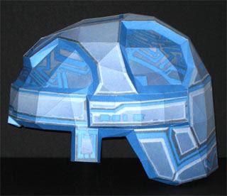 Tron Helmet Papercraft