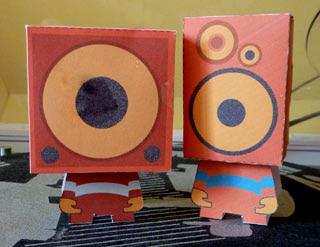 Speaker Head Paper Toys