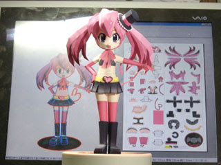 Anime Cherry Papercraft
