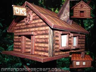 Donkey Kong Treehouse Papercraft