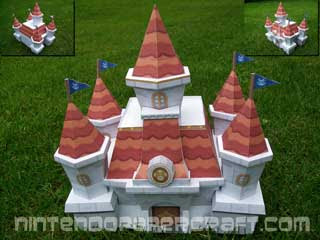 Princess Peach Castle Papercraft