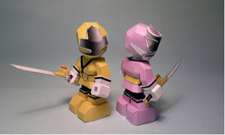Pink Yellow Shinken Papercraft