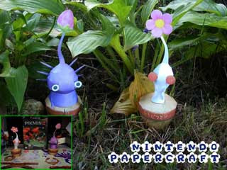 White &amp; Purple Pikmin Papercraft