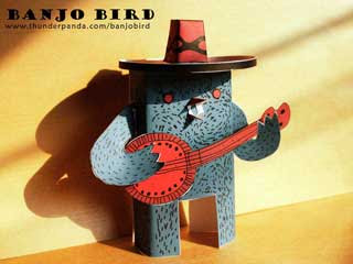 Banjo Bird Papercraft