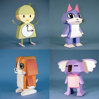 Jikanbou Animal Papercrafts