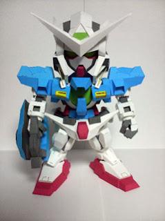 SD Gundam Exia R2 Papercraft