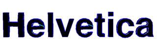 Helvetica Bold Papercraft