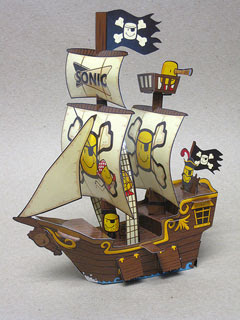 Salty Tot Pirate Ship Papercraft