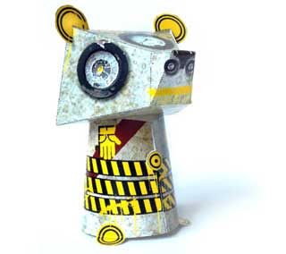Steampunk Bear Paper Toy