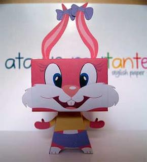 Babs Bunny Papercraft