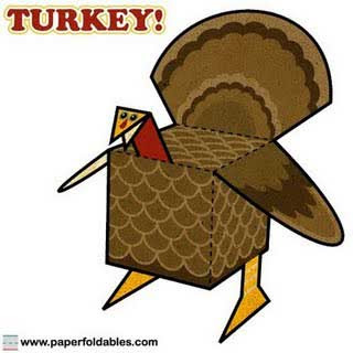 Thanksgiving Turkey Papercraft