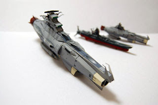 Space Battleship Arizona Papercraft