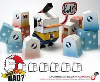NaniBird Paper Toy World's Best Dad