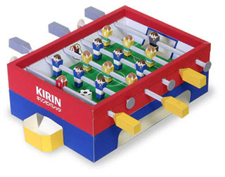 Foosball Papercraft