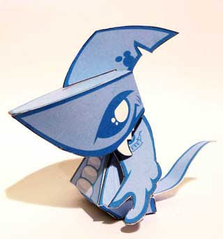 GatorShark Paper Toy
