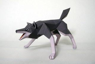 Gray Wolf Papercraft